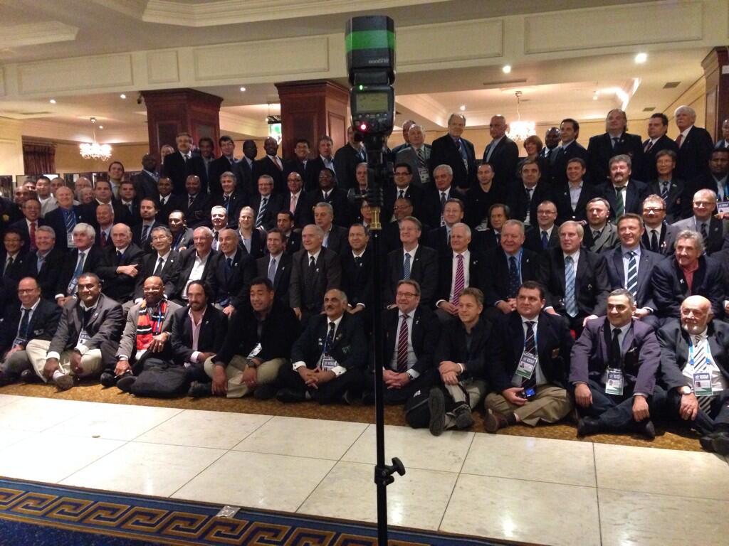 Todos los presidentes de las Uniones miembro. Foto IRB
